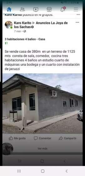 Se vende casa de cemento