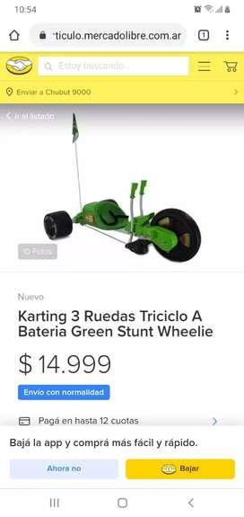 Karting 3 Ruedas Triciclo a Bateria