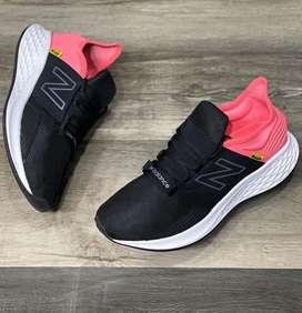 Tenis New Balance Roav Rosado Negro Tela Envio Gratis Recibimos Todos Los Medios De Pago