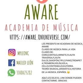 CLASES DE TODOS LOS INSTRUMENTOS MUSICALES VIRTUALES O PRESENCIALES