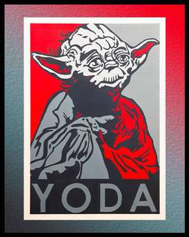 CUADRO DECORATIVO YODA STAR WARS
