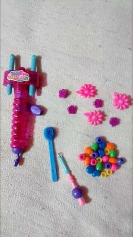 Maquinita para hacer trenzas con accesorios