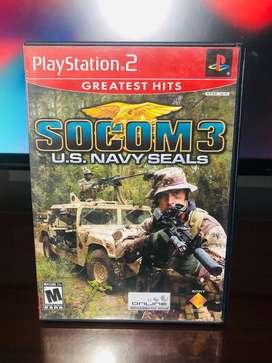SOCOM 3 US NAVY SEALS PLAY STATION 2 DVD ORIGINAL