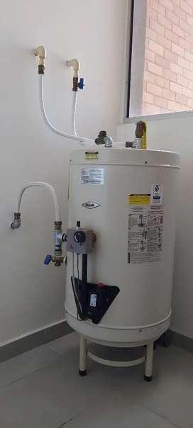 Calentador de agua, a gas, acumulación, marca Haceb