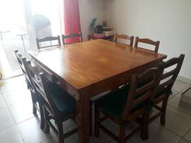 Mesa de madera 8 sillas