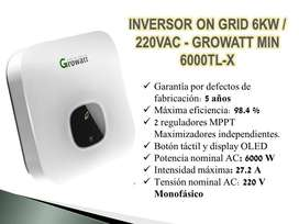 INVERSOR GROWATT ON GRID 6KW