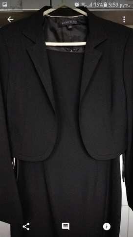 Precioso Conjunto americano Ann Klein Saco NUEVO Y Vestido Elegante cocktail