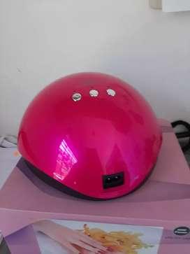 Cabina de uñas LED rosa acepto tarjeta