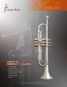 Trompeta Ideal IMTR-520S Music Box Colombia   Plata oro Bb