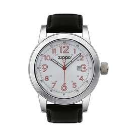 Reloj Correa de Piel, Negro, Zippo, Original. Entrega Banimported