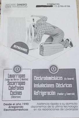 Servicio técnico especializado en lavarropas electrodomésticos y heladeras