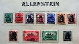 Sellos postales de Olsztyn Allenstein 1920 Prusia