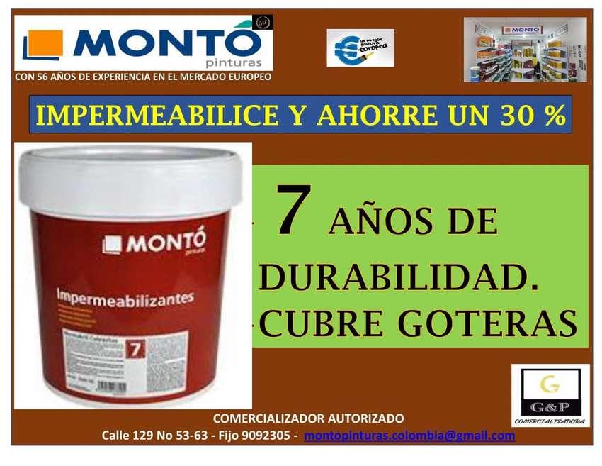 IMPERMEABILIZANTE DE CUBIERTAS MONTO GALON ROJO Y GRIS 0