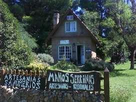 villa ventana,2 cabañas48mt2 c/u ,2 lotes,total 1200 mts 2, en total,parquizado papeles al dia
