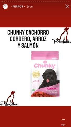 Bulto CHUNKY CACHORRO ARROZ Y SALMON 8KG