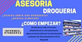 ASESORIA PARA APERTURA DE DROGUERIA, ALMACEN, BOTICA, FARMACIA