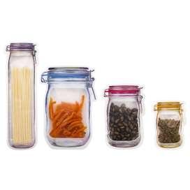 Set de 4 Bolsas para Almacenar Alimentos con Cierre Zipper