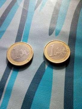 Vendo o permuto 2 dos monedas de 1 euro