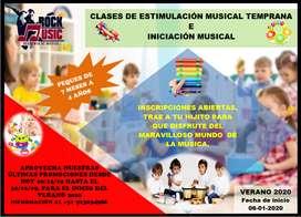 CLASES DE ESTIMULACION MUSICAL TEMPRANA E INICIACIÓN MUSICAL (DE 7 MESES A 4 AÑOS)