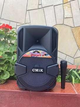 Parlante Cabina Cimk 8 Pulgadas Micrófono Bluetooth