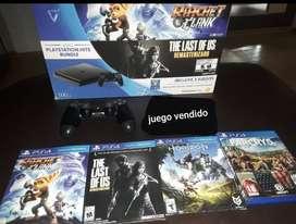 PS4 SLIM 500GB | 5 JUEGOS | FUENTE EXTERNA (LEER DESCRIPCION)