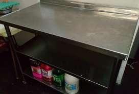 Mesa de acero quirurgico para cocina