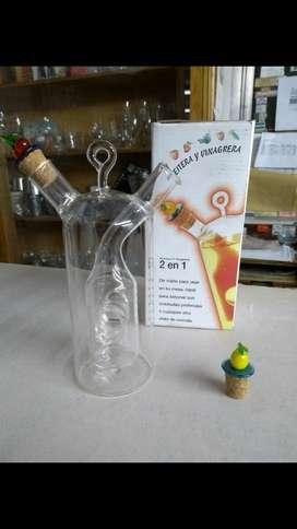 Aceitera Y Vinagrera 2 en 1