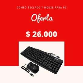 oferta combo teclado y mouse usb