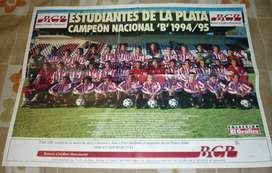 HERMOSA LAMINA POSTER EL GRAFICO ESTUDIANTES DE LA PLATA CAMPEON NACIONAL B 1994-95
