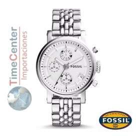 Reloj Fossil Analógico, Multifunción Para Mujer