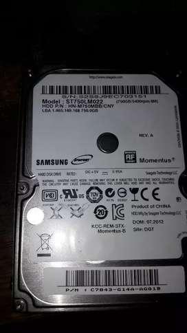 Disco rigido 750gb sata samsung para notebook