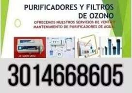 Purificadores y filtros de ozono para agua