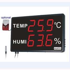 Medidor gigante-- LED  de Humedad y Temperatura Mod  HE250A