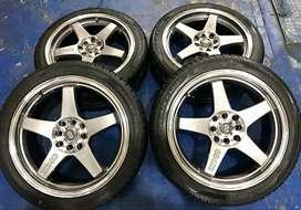 Vendo o Cambio Rines Enkei EV5 17 pulgadas con Llantas Pirelli Phantom 205/45/17 Como nuevas
