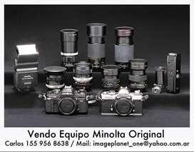 Vendo Equipo de Fotografía Minolta muy completo