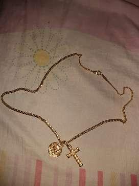 cadena BAÑADA en oro