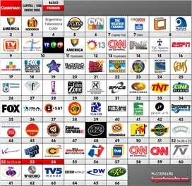 Promocion del servicio de internet y TV canales en HD