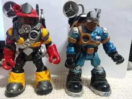 Figuras Vintage Rescue Heroes - 2 Personajes