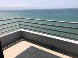Alquiler o Renta de departamento vista al mar sector Hotel Oro Verde, Manta