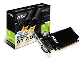 Tarjeta Grafica Msi Geforce Gt 710 2 Gb Ddr3 Pci Express 16x