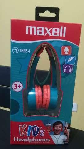 Audifonos nuevos Maxell kidz