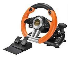 Volante de Carreras, plug and play (PC, PS4, PS4 Slim, PS4 Pro, PS3, Xbox One/Xbox Series S&X, Nintendo Switch)
