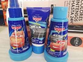 Colonia, shampoo y gel para niño