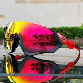 Gafas ciclismo oakley medio marco rojas
