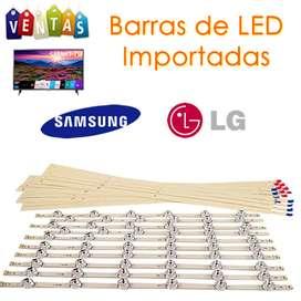Repuestos Barras o tiras de LED importadas Samsung y LG Nuevas