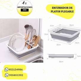 Escurridor de platos plegable