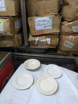 Platos hondos y de postres de 20 cm de cerámica