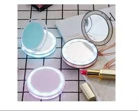 Espejo Led De Maquillaje De Bolsillo , Dos Caras, Carga Usb