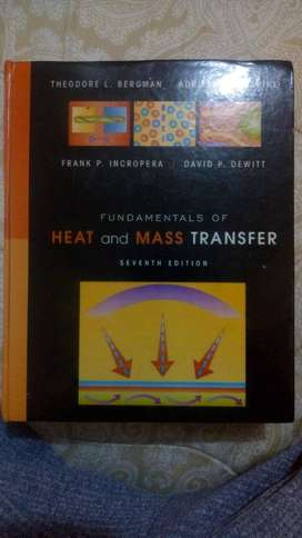 TRANSFERENCIA DE CALOR Y MASA (HEAT AND MASS TRANSFER)- FRANK INCROPERA - 7ma EDICION - INGLES - PASTA DURA (FOTOCOPIA)
