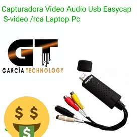 CAPTURADORA DE VIDEO AUDIO USB EASYCAP